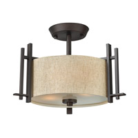 Sloan 2 Light 16 inch Regency Bronze Semi Flush Ceiling Light