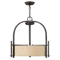 Hinkley 4542RB Sloan 3 Light 24 inch Regency Bronze Hanging Foyer Ceiling Light