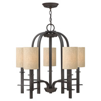 Hinkley 4545RB Sloan 5 Light 26 inch Regency Bronze Chandelier Ceiling Light