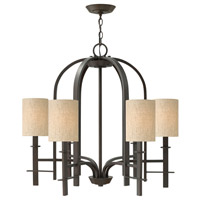 Hinkley 4546RB Sloan 6 Light 28 inch Regency Bronze Chandelier Ceiling Light