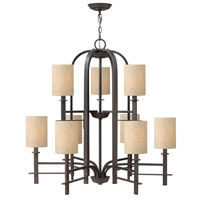Hinkley 4548RB Sloan 9 Light 36 inch Regency Bronze Chandelier Ceiling Light