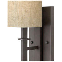 Hinkley 4549RB Sloan 1 Light 6 inch Regency Bronze Sconce Wall Light, Oatmeal Linen Shade alternative photo thumbnail