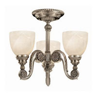 Hinkley Vanderbilt 3Lt Chandelier in French Pewter 4554FP photo thumbnail