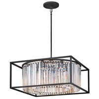 Hinkley 4555BK Giada 8 Light 24 inch Black Chandelier Ceiling Light