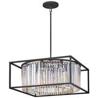 Hinkley 4555BK Giada 8 Light 24 inch Black Chandelier Ceiling Light