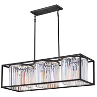 Hinkley 4556BK Giada 3 Light 38 inch Black Chandelier Ceiling Light