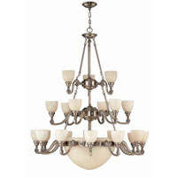 Hinkley Vanderbilt 3 Tier 21Lt Chandelier in French Pewter 4557FP photo thumbnail