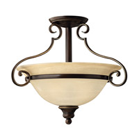 Cello 2 Light 19 inch Antique Bronze Semi Flush Ceiling Light