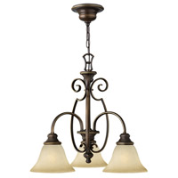 Hinkley 4563AT Cello 3 Light 23 inch Antique Bronze Chandelier Ceiling Light