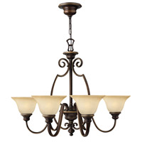 Hinkley 4566AT Cello 6 Light 32 inch Antique Bronze Chandelier Ceiling Light