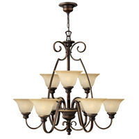 Cello 9 Light 36 inch Antique Bronze Chandelier Ceiling Light, 2 Tier