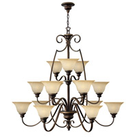 Cello 15 Light 47 inch Antique Bronze Chandelier Ceiling Light