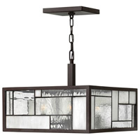 Hinkley 4571KZ Mondrian 4 Light 16 inch Buckeye Bronze Foyer Semi-Flush Mount Ceiling Light, Combo Mount
