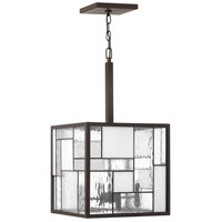 Mondrian 4 Light 14 inch Buckeye Bronze Chandelier Ceiling Light