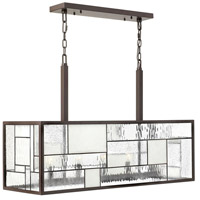 Mondrian 5 Light 36 inch Buckeye Bronze Linear Chandelier Ceiling Light