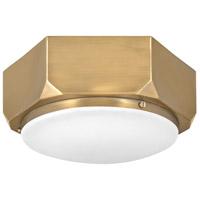 Hinkley 4581WS Hex 2 Light 13 inch Warm Brass Flush Mount Ceiling Light