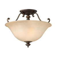 Dunhill 2 Light 16 inch Royal Bronze Semi Flush Ceiling Light
