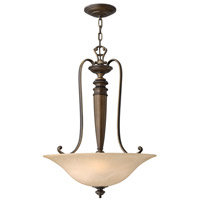 Hinkley 4594RY Dunhill 3 Light 20 inch Royal Bronze Hanging Foyer Ceiling Light
