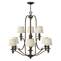 Hinkley 4598RY Dunhill 9 Light 37 inch Royal Bronze Chandelier Ceiling Light