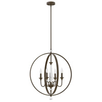 Hinkley 4604OZ Waverly 4 Light 24 inch Oil Rubbed Bronze Chandelier Ceiling Light
