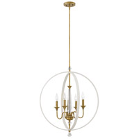 Waverly 4 Light 24 inch Warm White Chandelier Ceiling Light