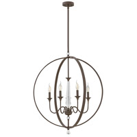 Waverly 5 Light 30 inch Oil Rubbed Bronze Foyer Chandelier Ceiling Light