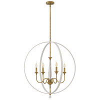 Waverly 5 Light 30 inch Warm White Foyer Chandelier Ceiling Light