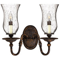 Hinkley 4622FB Rockford 2 Light 14 inch Forum Bronze Sconce Wall Light photo thumbnail