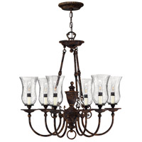 Hinkley 4626FB Rockford 6 Light 27 inch Forum Bronze Chandelier Ceiling Light