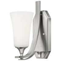 Brantley 1 Light 5 inch Brushed Nickel Sconce Wall Light in Etched White