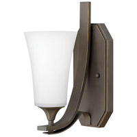 Hinkley 4630OZ-WH Brantley 1 Light 5 inch Oil Rubbed Bronze Sconce Wall Light in Etched White