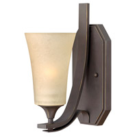 Hinkley 4630OZ Brantley 1 Light 5 inch Oil Rubbed Bronze Sconce Wall Light in Amber Etched photo thumbnail