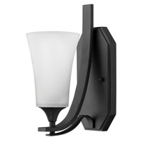 Brantley 1 Light 5 inch Textured Black Sconce Wall Light in Etched White