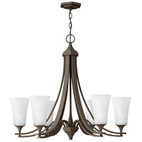 Hinkley 4636OZ-WH Brantley 6 Light 30 inch Oil Rubbed Bronze Chandelier Ceiling Light