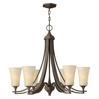 Hinkley 4636OZ Brantley 6 Light 30 inch Oil Rubbed Bronze Chandelier Ceiling Light in Amber Etched