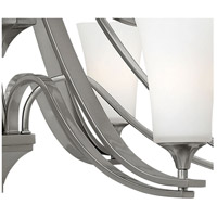 Hinkley 4638BN Brantley 9 Light 33 inch Brushed Nickel Foyer Chandelier Ceiling Light in Etched White, Etcher Amber Glass alternative photo thumbnail