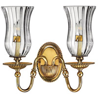 Hinkley 4642BB Cambridge 2 Light 14 inch Burnished Brass Sconce Wall Light