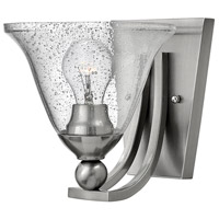 Bolla 1 Light 8 inch Brushed Nickel Sconce Wall Light in Incandescent, Clear Seedy, Clear Seedy Glass