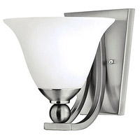 Bolla 1 Light 8 inch Brushed Nickel Sconce Wall Light in Etched Opal, Incandescent