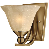 Bolla 1 Light 8 inch Brushed Bronze Sconce Wall Light in Amber Seedy, Incandescent