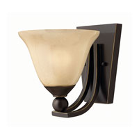 Hinkley 4650OB-GU24 Bolla 1 Light 8 inch Olde Bronze Bath Wall Light in GU24, Amber Seedy