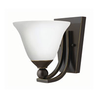 Hinkley 4650OB-OP-GU24 Bolla 1 Light 8 inch Olde Bronze Sconce Wall Light in Etched Opal, GU24