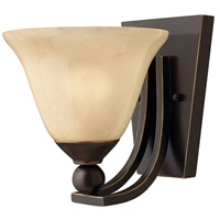 Bolla LED 8 inch Olde Bronze Sconce Wall Light in Light Amber Seedy, Light Amber Seedy Glass
