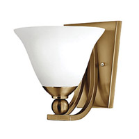 Bolla 1 Light 8 inch Brushed Bronze Sconce Wall Light in Incandescent, Etched Opal, Etched Opal Glass