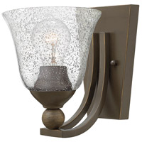 Hinkley 4650OB-CL Bolla 1 Light 8 inch Olde Bronze Sconce Wall Light, Clear Seedy Glass