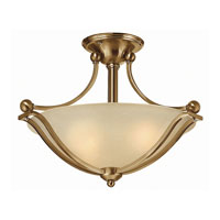 Bolla LED 19 inch Brushed Bronze Foyer Semi-Flush Mount Ceiling Light in Light Amber Seedy