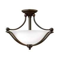 Bolla 2 Light 19 inch Olde Bronze Semi-Flush Mount Ceiling Light in Etched Opal, GU24, Etched Opal Glass