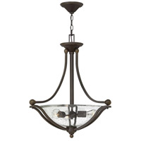 Bolla 3 Light 23 inch Olde Bronze Inverted Pendant Ceiling Light in Clear Seedy, Incandescent