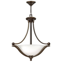 Bolla 3 Light 23 inch Olde Bronze Inverted Pendant Ceiling Light in Etched Opal, Incandescent