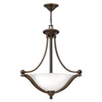 Bolla 3 Light 23 inch Olde Bronze Foyer Ceiling Light in Etched Opal, GU24, Etched Opal Glass